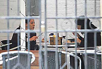 Samira and Hanan Fariad, 31 Pictured having lunch after visit to Solicitors Office