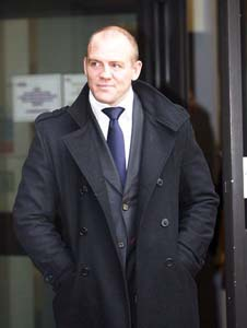 From Paul Burgman/PressPhotosUK.com  8th January 2009.  Mike Tindall leaves court after being banned from Driving for Three Years for Driving with Excess Alcohol, at Reading Magistrates Court.  Paul Burgman 075 88 66 9580
