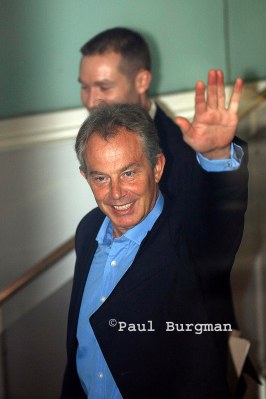 9 Sept  2006.  Tony Blair arriving at Congress House.