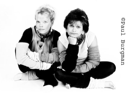 Sara Crowe and Ann Bryson before they shot to fame as the Philidelphia Cheese Girls.  Original Publicity photographs shot for their Cabaret Act the Flamin' Hamsters.