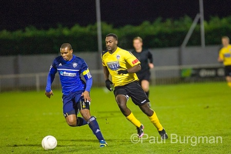 19/11/2013  20:56.  Met Police v GCFC in the Surrey Senior Cup.  City ran out 3-0 losers on the night City's OMARI HIBBERT