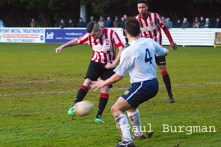 29/12/2013  Yate Town v GCFC. City's Sam Spencer scores for Guildford