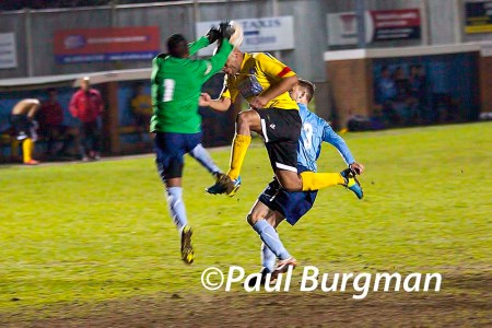 17/03/2014 Fleet Town v GCFC. City's LANCE BANTON-BROWN [Pic Paul Burgman]