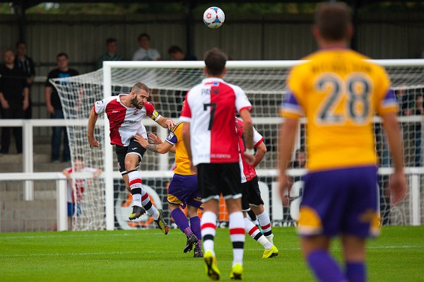 27/09/2014. Woking FC v Kidderminster Harriers.Woking's Joe McNerney