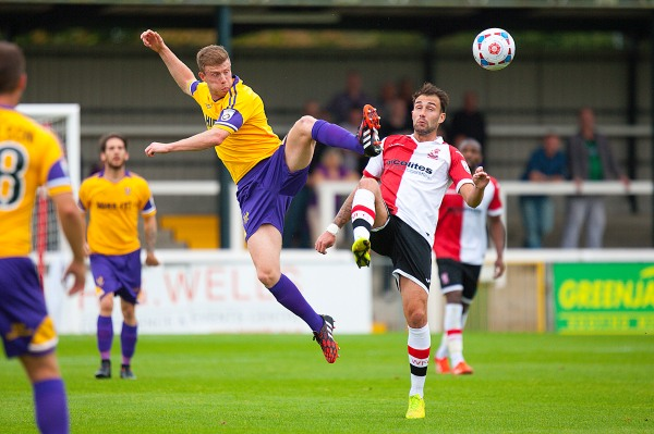 27/09/2014. Woking FC v Kidderminster Harriers.Woking's John Goddard