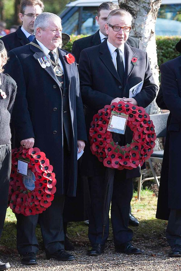09/11/2014 Ash Remembrance Sunday  with Michael Gove, Nigel Manning.