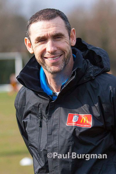 14/03/2015. Martin Keown at Curley Park Rangers for McDonalds FA community awards scheme.