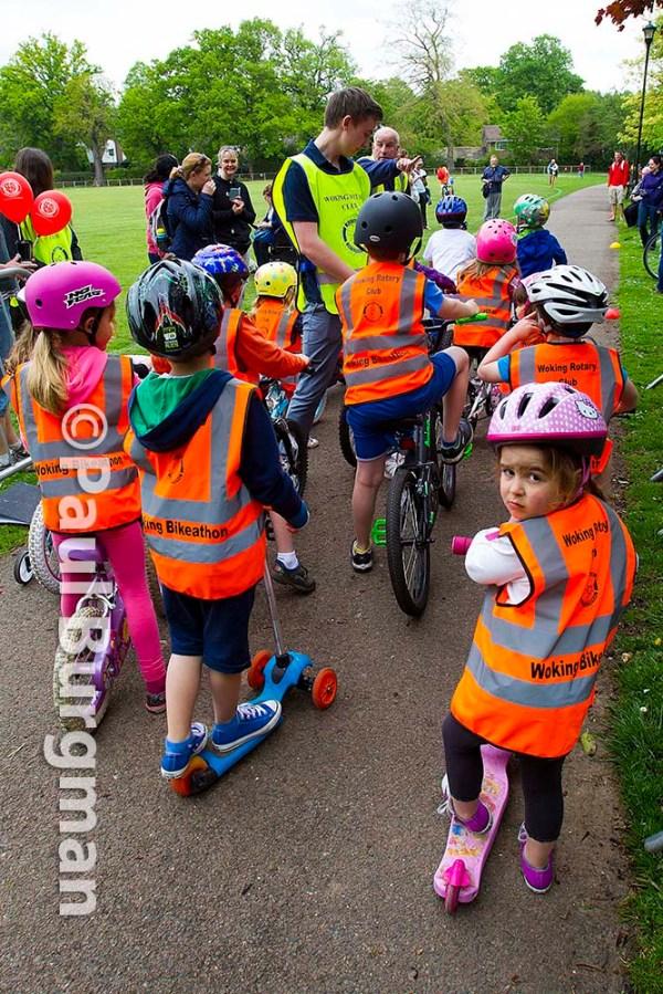 10/05/2015  Woking Bikeathon. Children race