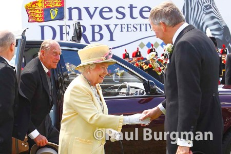 06/06/2015. Epsom Races. HM the Queen arrives at the races with Prince Phillip