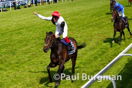 06/06/2015. Epsom Races. Frankie Detorri wins the Derby