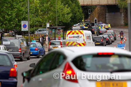16/06/2015. Car v Motorcycle Accident Middleton Road, Guildford on Tuesday Morning