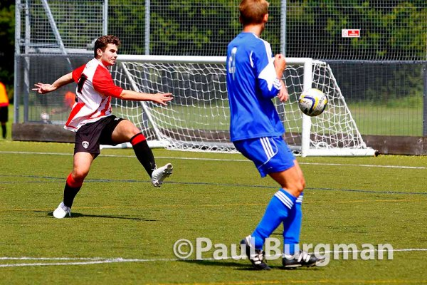 21/07/2015. Pre Season Friendly Guildford City v Broadbridge Heath. City's 4th goal, a 25 yard screamer.