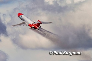 16/07/2016. Farnborough International Airshow. Boeing 727-200 Oil Spill Response Aircraft