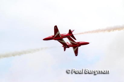 28/08/2016.Wings & Wheels, Dunsfold. The Red Arrows Synchro Pair