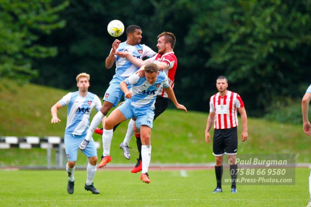 17/09/2016. Guildford City v Hanworth Villa. City's Bobby DORMER