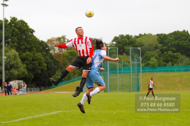 17/09/2016. Guildford City v Hanworth Villa. City's Perry COLES