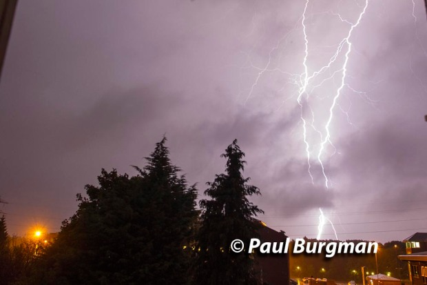 16/09/2016. Lightening Strikes Guildford