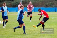 24/09/2016. Spelthorne Sports v Guildford City. Guildford City MOM Ibby AKANBI shoots