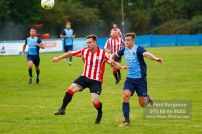 24/09/2016. Spelthorne Sports v Guildford City. Guildford City Matt GLASS attempts to chip the Spelthorne keeper