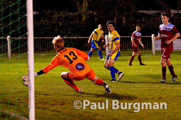 4/10/2016. Badshot Lea FC v Guildford City FC. Cherry Records League Cup.
