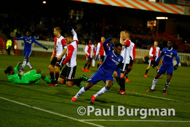 29/11/2016. Chelsea U21 v Feyenoord Academy. Premier League International Cup