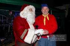 19/11/2016. Cranleigh Christmas Lights. Father Christmas & Noddy turn on the lights.