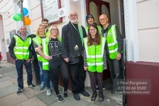 19/11/2016 Surrey Vegan at The Guildford Institute. Actor Peter EGAN opens (albeit an hour and a half late) the 1st Surrey Vegan Fair at the Guildford Institute with Surrey Vegan volunteers