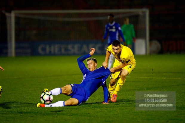 16/12/2016.  Chelsea v Dinamo Zagreb in the Youth European Cup. Miro MUHEIM