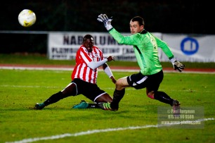 14/12/2016. Guildford City v Horley Town. Surrey Senior Cup. Mario Embalo shoots