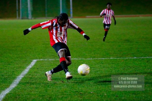 14/12/2016. Guildford City v Horley Town. Surrey Senior Cup Kiye Martin scores