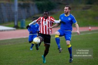 10/12/2016. Guildford City v Sutton Common Rovers. City's Super Mario EMBALO