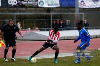 10/12/2016. Guildford City v Sutton Common Rovers. City's Mario EMBALO