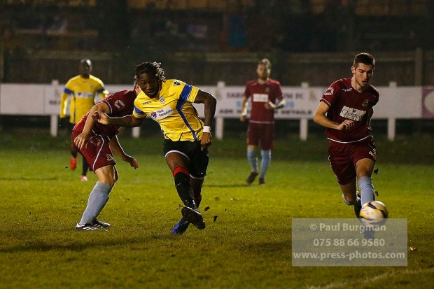 6/12/2016. Farnham Town v Guildford City FC. Shawn Lyle scores after 14 seconds