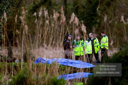 11/04/2016.Guildford. The River Wey, a body is found that may be Grant BROSTER