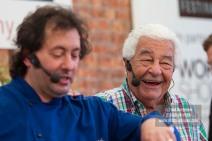03/09/2016. Woking Food Festival. The Clink with Antonio Carluccio and Al Crisci