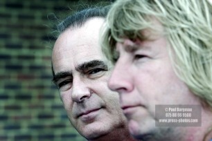 Francis Rossi and Rick Parfit take a break from rehearsals prior to a major world tour (PIC PAUL BURGMAN/CASSIDY AND LEIGH)