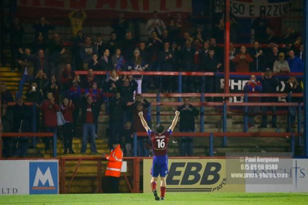 07/01/2017.  Aldershot Town v Southport FC. Aldershot Celebrate