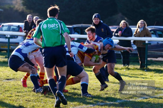 21/01/2017.  Chobham Rugby v Dover RFC Dom SAMMUT scores