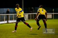 Epsom & Ewell v GCFC, Surrey Senior Cup. Kiye Martin celebrates scoring