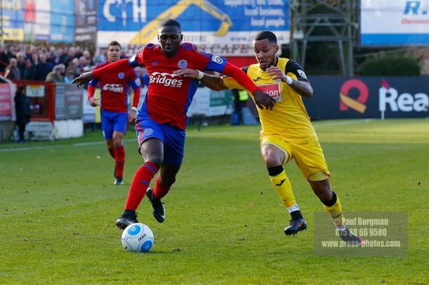 26/12/2016.  Aldershot Town v Woking FC. KANU