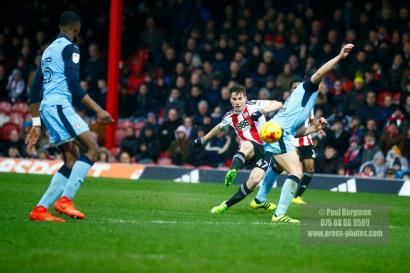 25/02/2017. Brentford FC v Rotherham United. Sergi CANOS shoots.