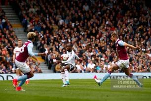 17/04/2017. Fulham FC v Aston Villa. Match Action. Fulham's Sone ALUKO