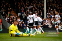 17/04/2017. Fulham FC v Aston Villa. Match Action. FulhamÕs Sone ALUKO celebrates