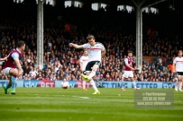 17/04/2017. Fulham FC v Aston Villa. Match Action. FulhamÕs Kevin MCDONALD shoots