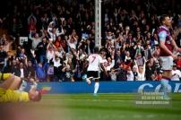17/04/2017. Fulham FC v Aston Villa. Match Action. Fulham's NEESKENS KEBANO celebrates