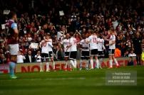 17/04/2017. Fulham FC v Aston Villa. Match Action. FulhamÕs NEESKENS KEBANO celebrates