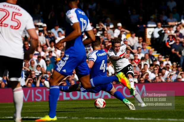 08/04/2017. Fulham FC v Ipswich Town. Match Action.