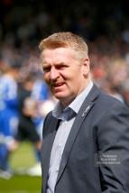 29/04/2017. Fulham v Brentford. Brentford Manager Dean SMITH