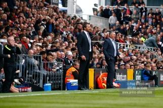 29/04/2017. Fulham v Brentford. Fulham Manager Slavisa JOKANOVIC & Brentford Manager Dean SMITH