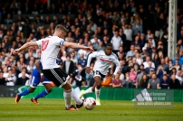 29/04/2017. Fulham v Brentford. Fulham's Tom CAIRNEY's penalty is saved